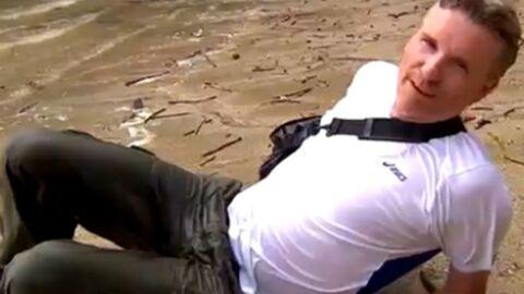 VIDEO Koh-Lanta Thaïlande: Denis Brogniart teste la première épreuve et en bave