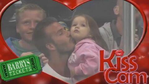 DIAPO David Beckam et sa fille font craquer toute une salle avec leur  Kiss Cam