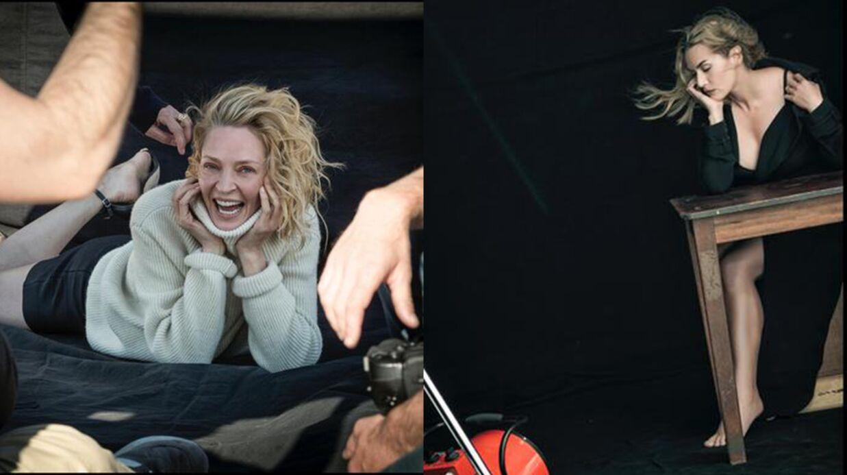 PHOTOS Kate Winslet sexy, Uma Thurman au naturel pour le calendrier Pirelli 2017