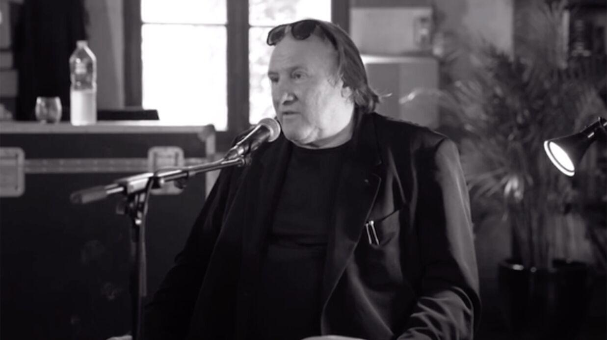 VIDEO Les premières images, émouvantes, de Gérard Depardieu qui chante Barbara