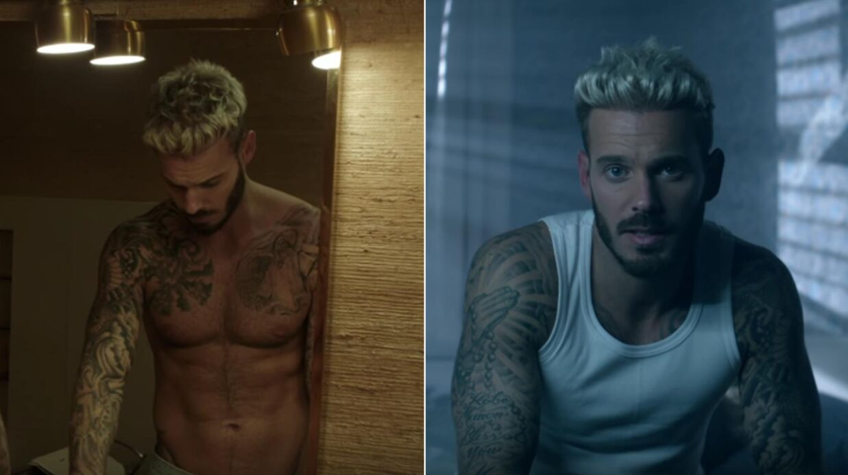 VIDEO M Pokora en mode sexy dans le clip de son single Comme d'ha­bi­tude