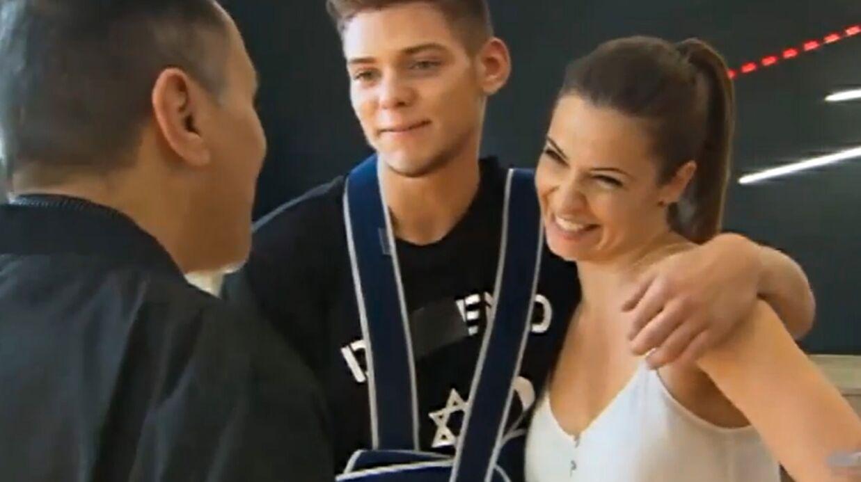 VIDEO Danse avec les stars 5: Rayane Bensetti répète avec le bras en écharpe