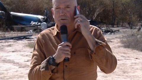 Polémique Dropped: TF1 a voulu cacher l'hélico calciné avant son duplex avec Louis Bodin