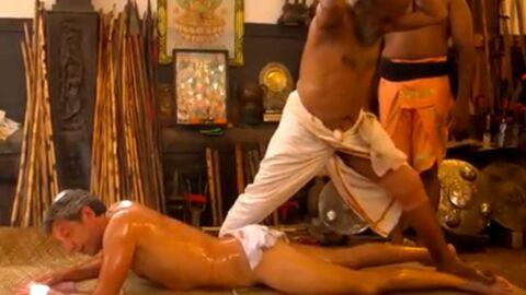 VIDEO: Michel Cymès tout nu se fait piétiner (et masser) par un Indien