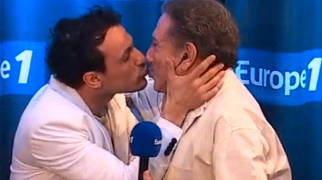 VIDEO Michel Drucker échange un tendre baiser avec son chroniqueur