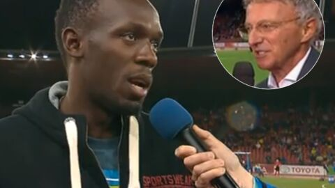 VIDEO Nelson Monfort traduit n'importe comment une interview d'Usain Bolt