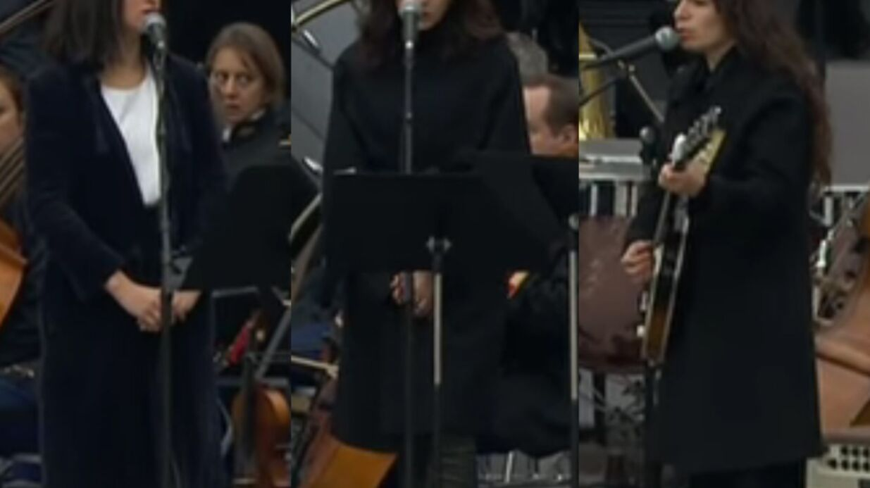 VIDEO Hommage national: Nolwenn Leroy, Yaël Naïm et Camélia Jordana chantent «Quand on n'a que l'amour»