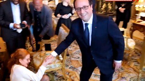 VIDEO Philae, la chienne de François Hollande, renverse une jeune femme à l'Elysée