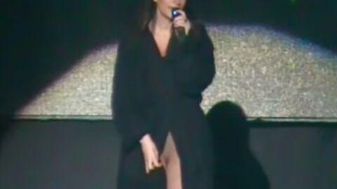 VIDEO Sur scène, Laura Pausini dévoile son intimité par accident