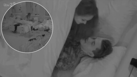 Un candidat de téléréalité couche avec une fille en prime-time, sa copine hallucine devant sa télé