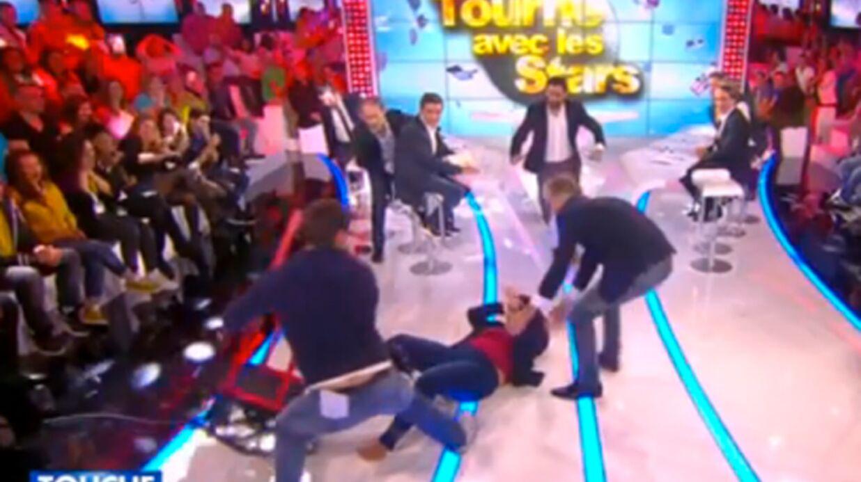 VIDEO Valérie Benaïm chute lourdement sur la tête dans Touche pas à mon Poste