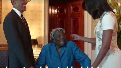 VIDEO Barack et Michelle Obama: surexcitée de les rencontrer, une centenaire danse de joie