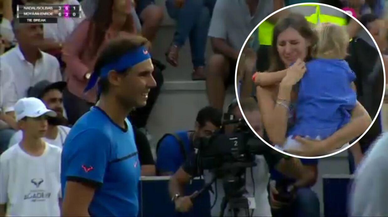 VIDEO Rafael Nadal: une spectatrice perd sa fille dans la foule, il réagit de la plus belle des façons