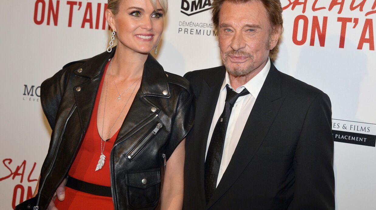 PHOTOS Johnny Hallyday et Laeticia très amoureux à la première de Salaud, on t'aime