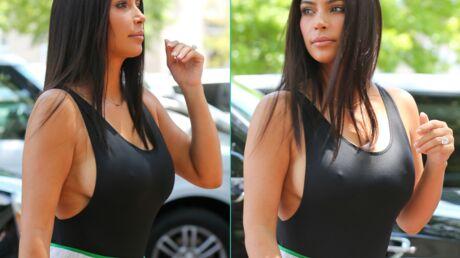 PHOTOS Kim Kardashian dévoile sa poitrine en body moulant très échancré