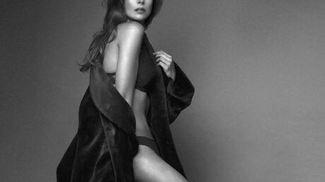 PHOTO Marine Lorphelin sexy en lingerie pour un élégant shooting