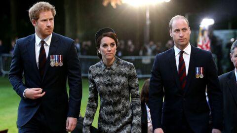 PHOTOS Kate Middleton et les princes William et Harry: émotion et solennité aux commémorations