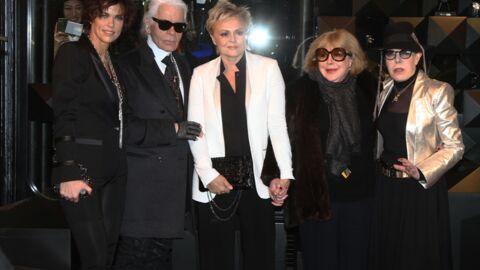 DIAPO Muriel Robin et sa compagne pendent la crémaillère de Karl Lagerfeld