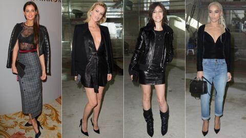 Fashion week: Malika Ménard sexy au défilé Paule Ka, Eva Herzigova très décolletée pour Saint Laurent