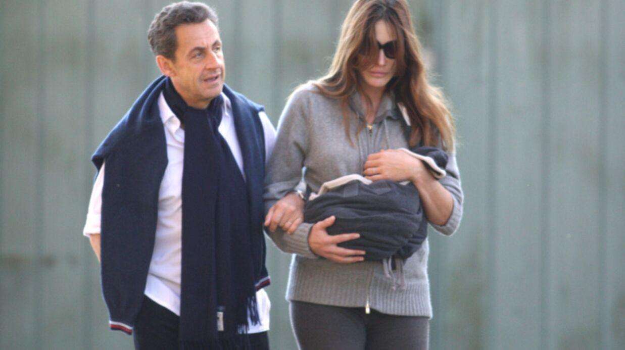 PHOTOS: première balade de Nicolas, Carla et Giulia Sarkozy