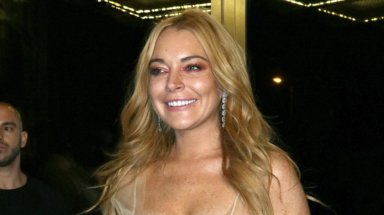 PHOTO Lindsay Lohan pose en lingerie pour Halloween