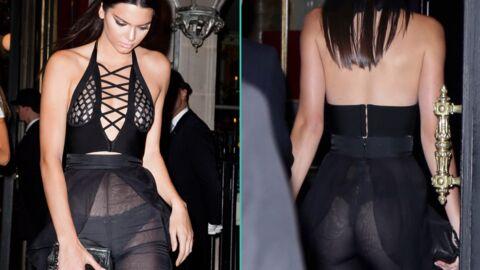 PHOTOS Kendall Jenner en robe transparente dans les rues de Paris