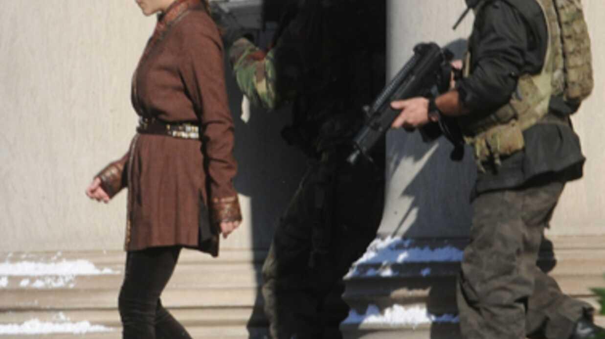 DIAPO Marion Cotillard sur le tournage de Batman