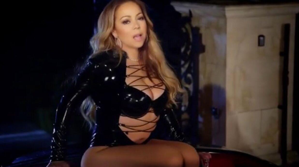 VIDEO Mariah Carey en body à laçage et tous seins dehors dans son nouveau clip
