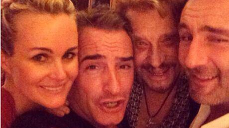 PHOTO Jean Dujardin a passé le réveillon du nouvel an avec les Hallyday