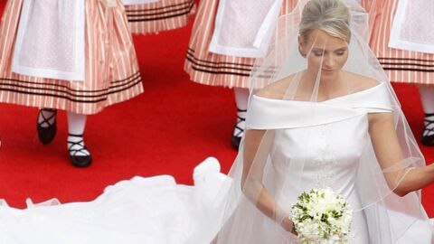 Charlene Wittstock: zoom sur sa robe de mariée Armani