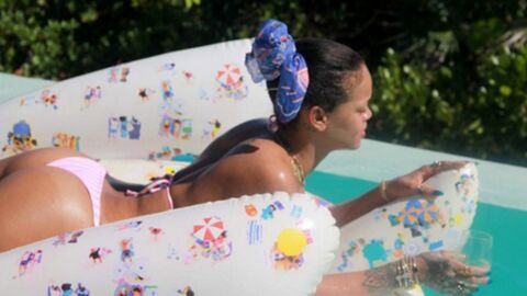 PHOTOS Rihanna ultra sexy, s'offre une après-midi piscine en tout petit bikini