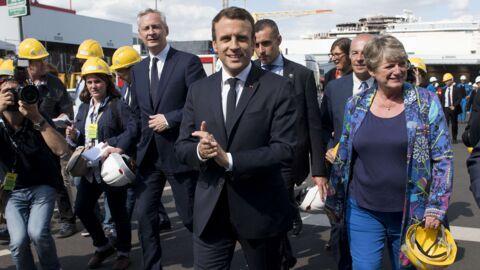 Emmanuel Macron: des lycéens sèchent les cours pour le voir, il leur signe un mot d'excuse