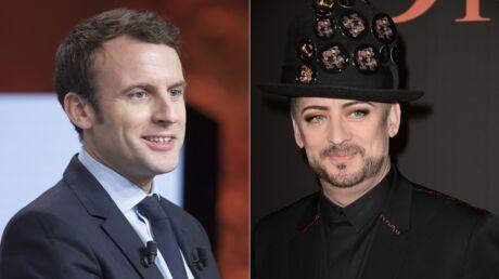 Emmanuel Macron a reçu le soutien de… Boy George!