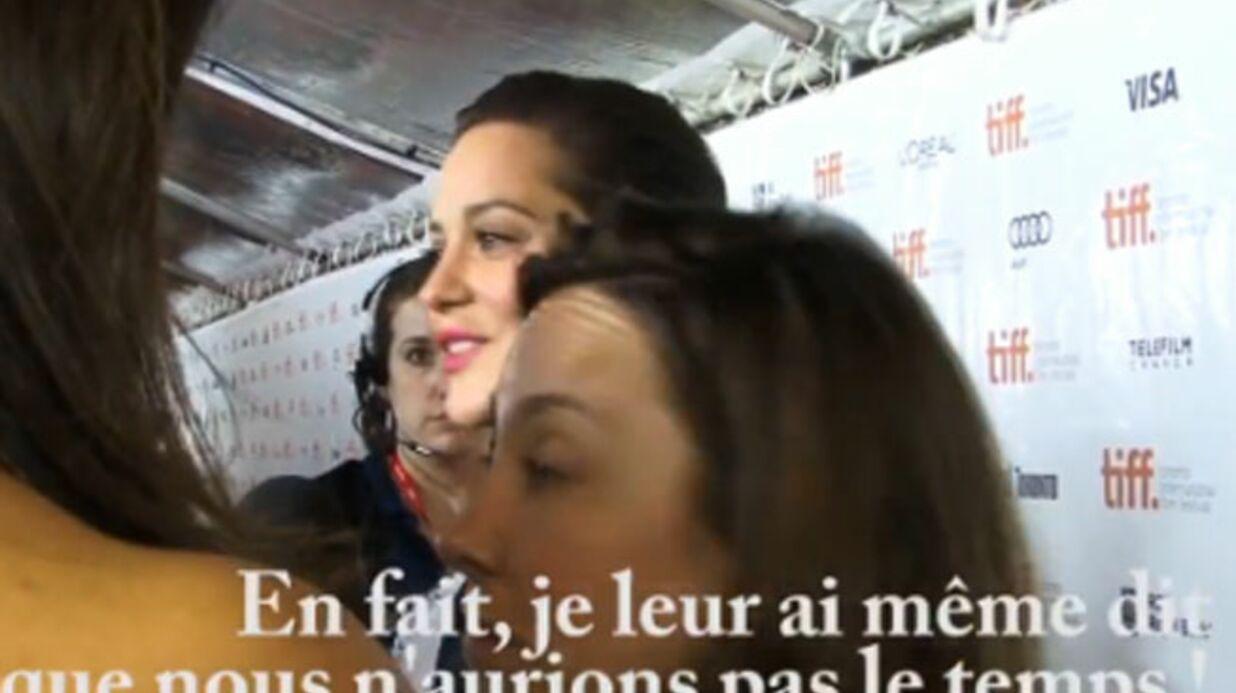 VIDEO L'agent américain de Marion Cotillard se montre odieuse sur un tapis rouge