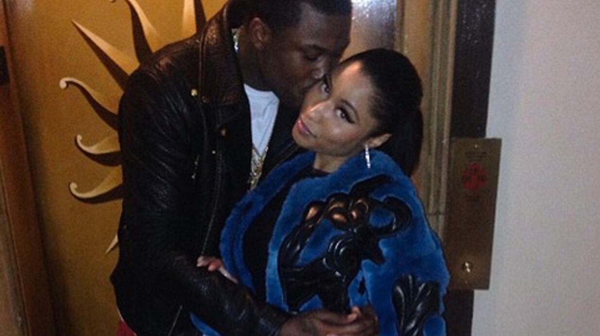 Nicki Minaj s'affiche avec son nouveau chéri, le rappeur Meek Mill