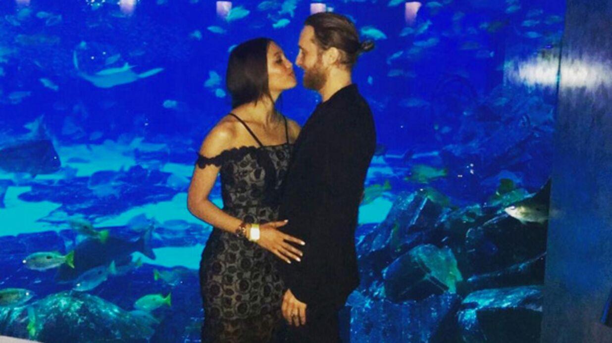 PHOTO Le langoureux baiser de David Guetta et Jessica Ledon pour la nouvelle année
