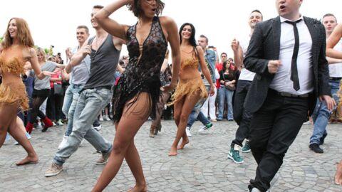 PHOTOS Shy'm: plus sexy que jamais pour un flashmob au Sacré Cœur