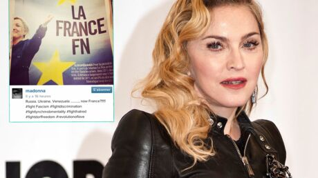 Madonna s'inquiète de la montée du FN en France et le fait savoir