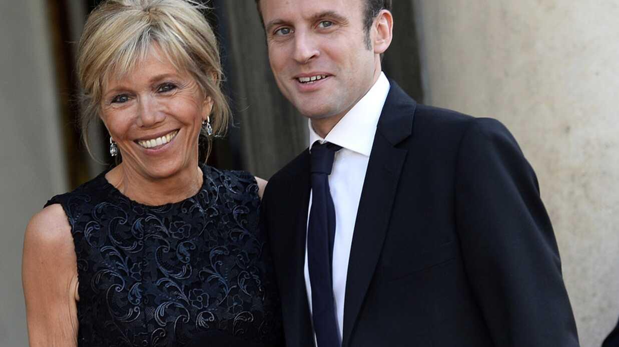 PHOTOS Emmanuel Macron et son épouse, leur première apparition ensemble à l'Elysée