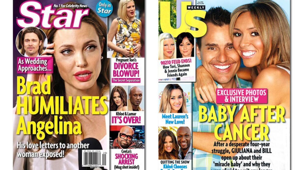 En direct des US: Angelina Jolie humiliée, Lady Gaga célibataire, Kate Middleton menacée…