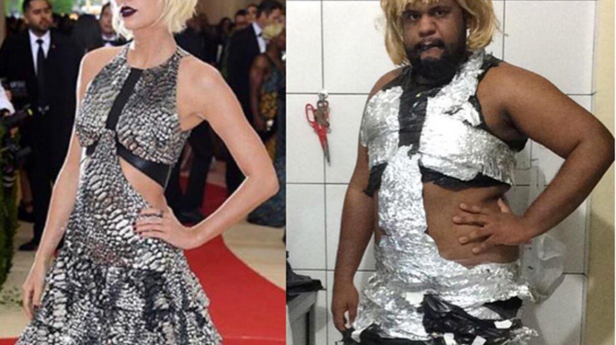 PHOTOS Un internaute recrée les robes du MET Gala avec des déchets et c'est très drôle