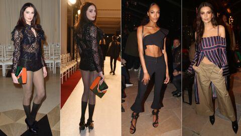 PHOTOS Frédérique Bel en mini combishort transparent, Jourdan Dunn très décolletée à la fashion week parisienne