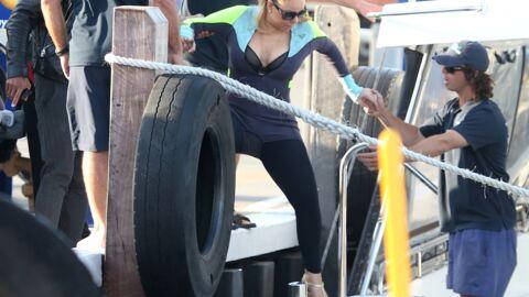 PHOTOS Mariah Carey, en talons et décolletée, va faire un coucou aux dauphins