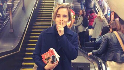 PHOTO Emma Watson: sa technique originale pour promouvoir un livre