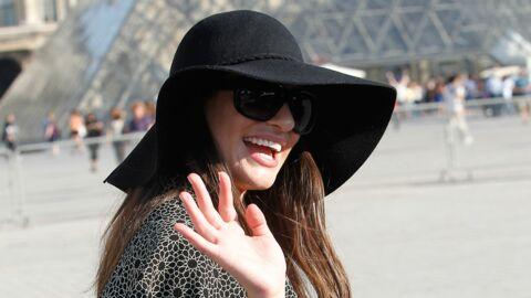 Lea Michele à Paris pour la Fashion Week et la Nuit Blanche