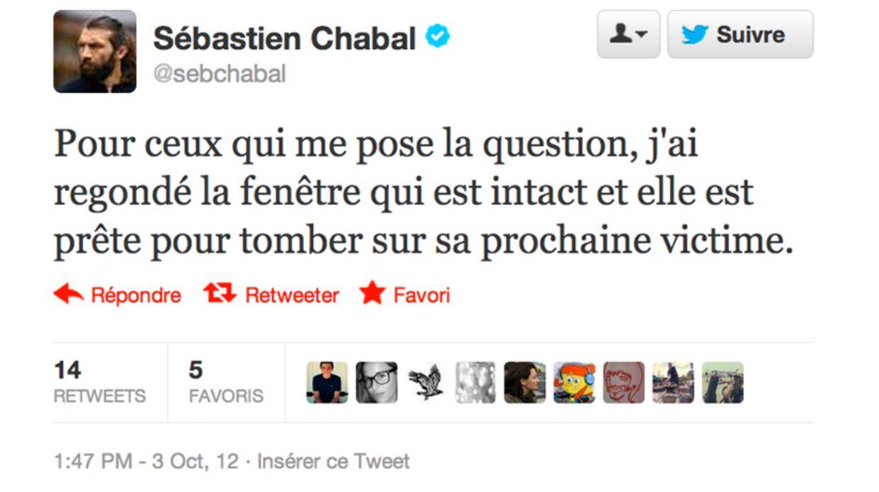 Sébastien Chabal blessé: quatre points de suture sur le crâne