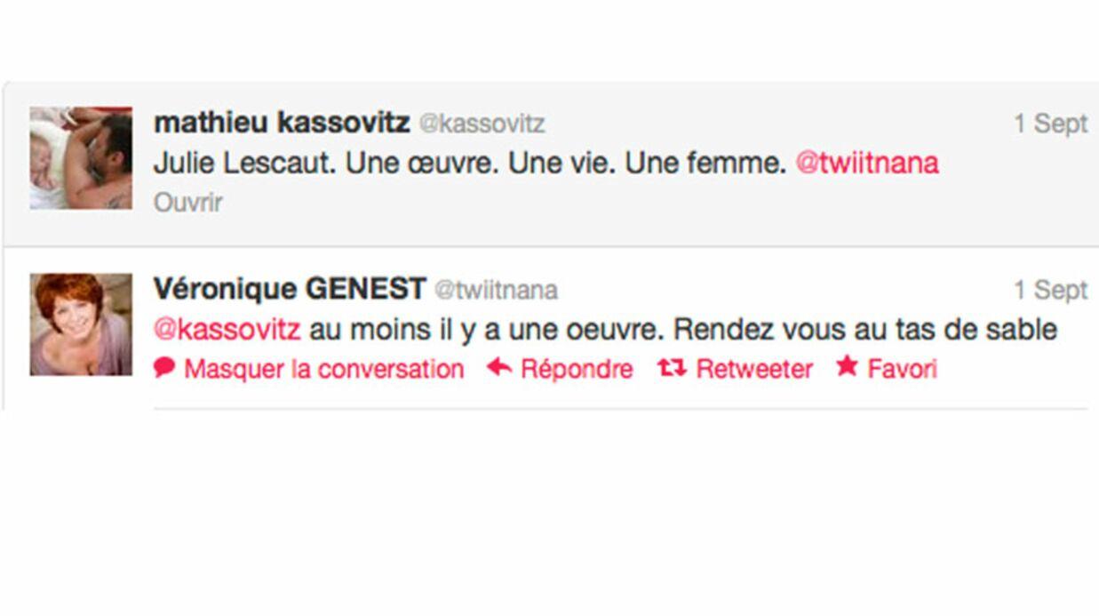 Véronique Genest et Mathieu Kassovitz s'embrouillent sur Twitter