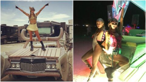 PHOTOS Paris Hilton s'éclate comme une folle au festival Burning Man
