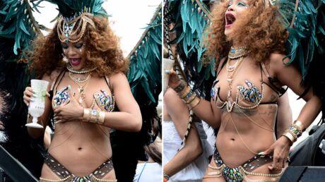 PHOTOS Rihanna sexy et déchaînée pour défiler au carnaval de la Barbade