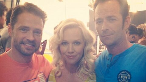 PHOTO Beverly Hills : Jennie Garth retrouve Jason Priestley et Luke Perry